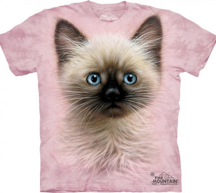 Купить The Mountain Футболка Black & Tan Kitten - Мордочка сиамского котенка