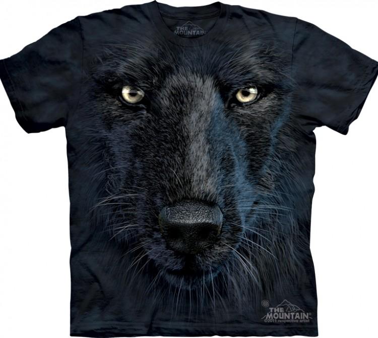 Купить The Mountain Футболка Black Wolf Face - Морда черного волка
