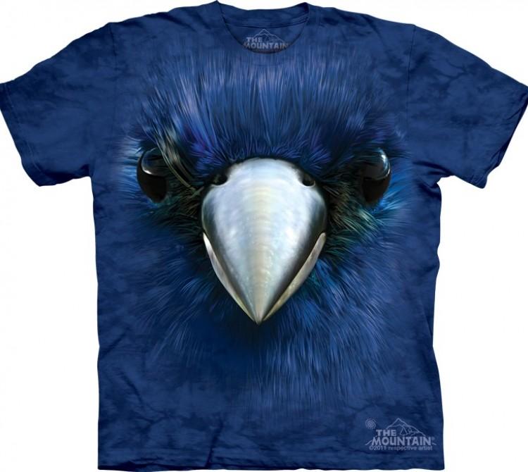 Купить The Mountain Футболка Bluebird Face - Лазурная птица (сиалия)