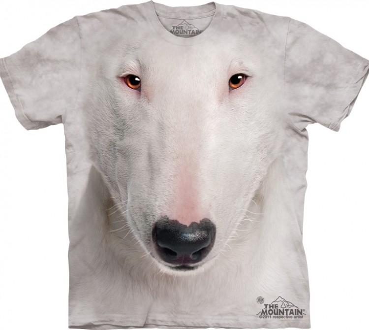 Купить The Mountain Футболка Bull Terrier Face - Морда Бультерьера