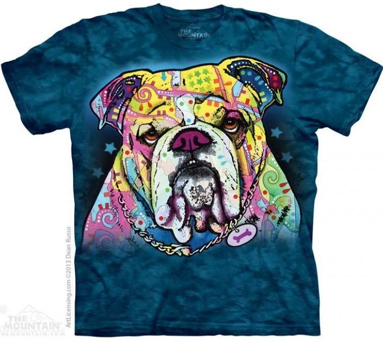 Купить The Mountain Футболка Colorful Bulldog - Красочный бульдог