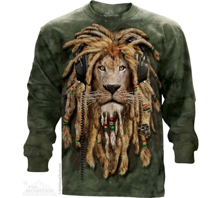 Купить The Mountain Футболка DJ Jahman - Диджей лев (длинный рукав)