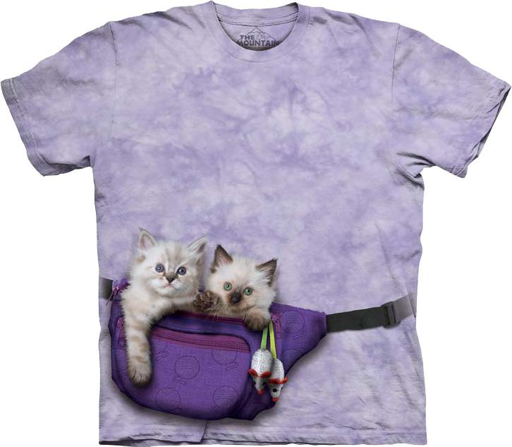 Купить The Mountain Футболка Funny Pack Kittens - Котята в сумочке