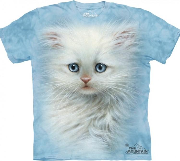 Купить The Mountain Футболка Fluffy White Kitten - Белый пушистый котенок