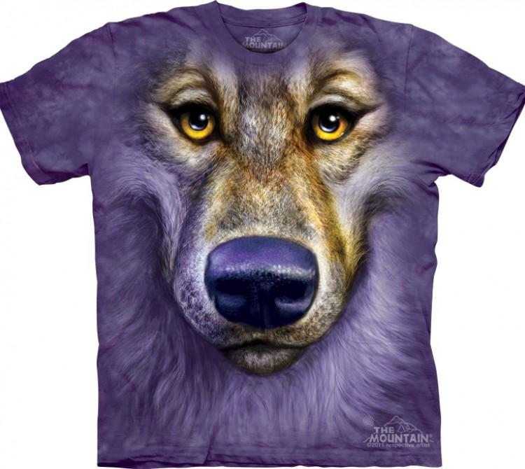 Купить The Mountain Футболка Friendly Wolf Face - Морда дружелюбного волка