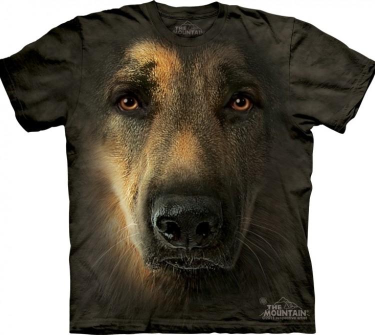 Купить The Mountain Футболка German Shepherd Portrait - Морда немецкой овчарки