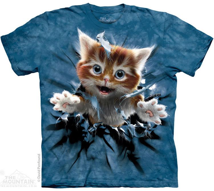 Купить The Mountain Футболка Ginger Kitten Breakthrough - Рвущийся на свободу рыжий котенок