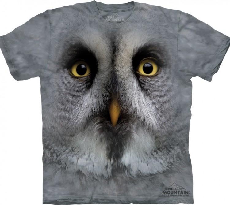 Купить The Mountain Футболка Great Grey Owl - Большая серая сова