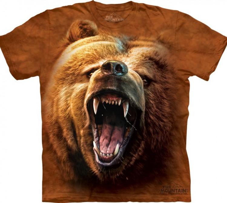 Купить The Mountain Футболка Grizzly Growl - Рычащий гризли