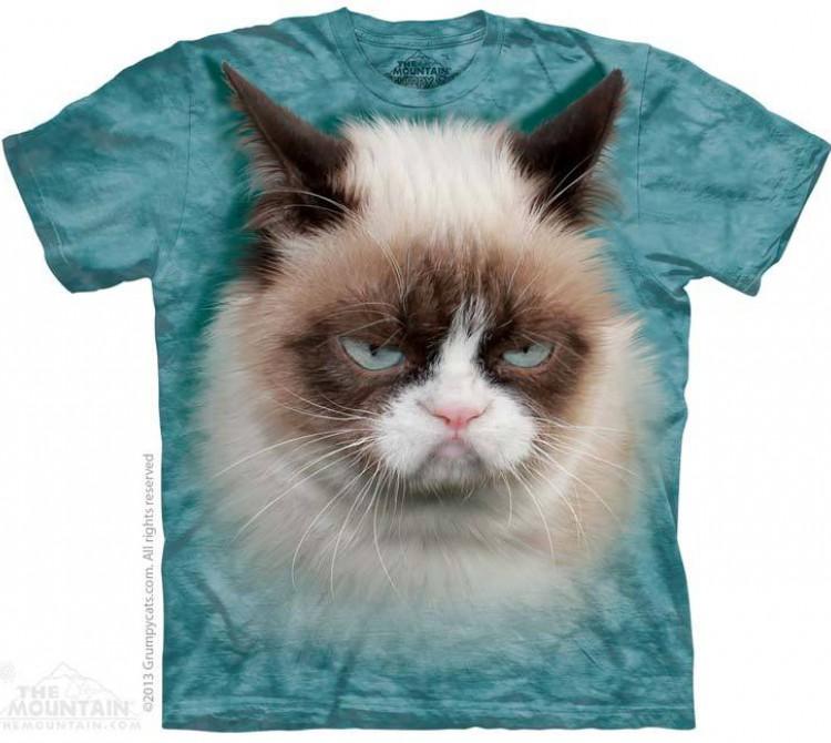 Купить The Mountain Футболка Grumpy Cat - Недовольный Кот