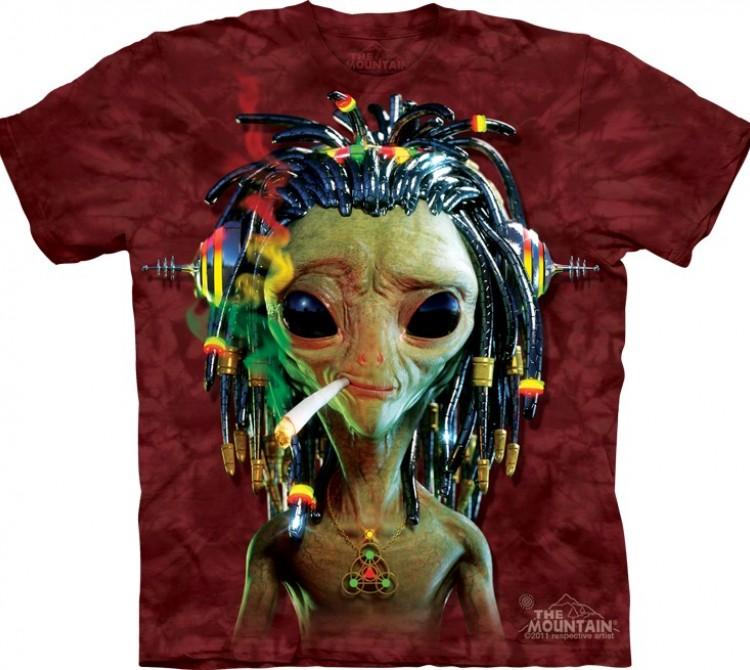 Купить The Mountain Футболка Jammin Alien - Курящий инопланетянин