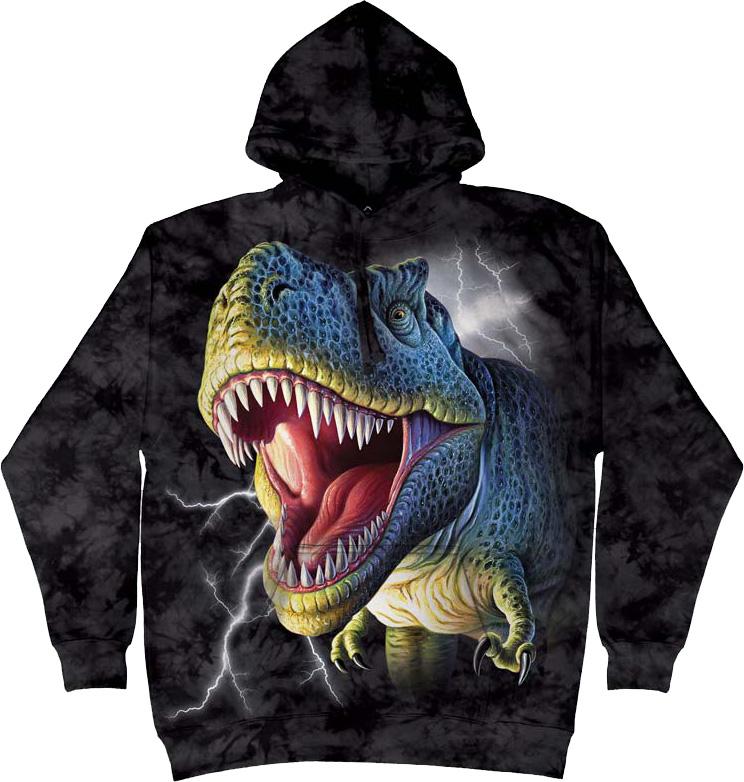Купить The Mountain Толстовка Lightining Rex - Динозавр под молниями