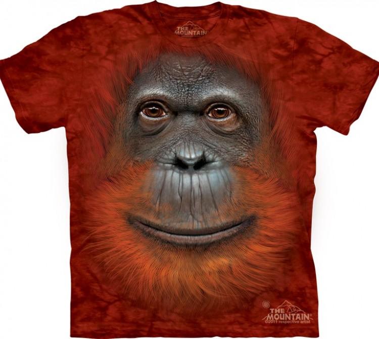 Купить The Mountain Футболка Orangutan Face - Морда орангутана