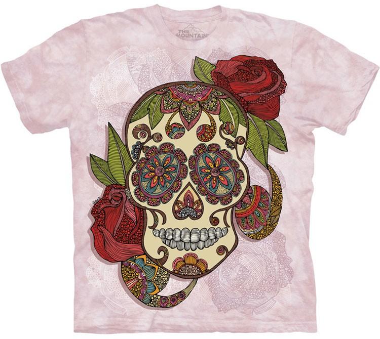 Купить The Mountain Футболка Paisley Sugar Skull - Сахарный Череп (пейсли)