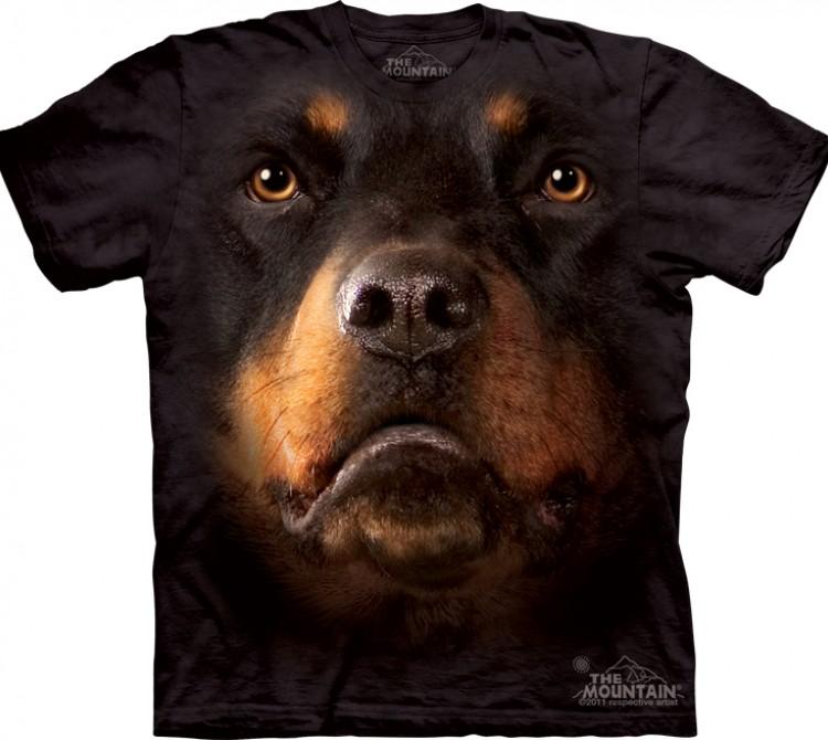 Купить The Mountain Футболка Rottweiler Face - Морда ротвейлера