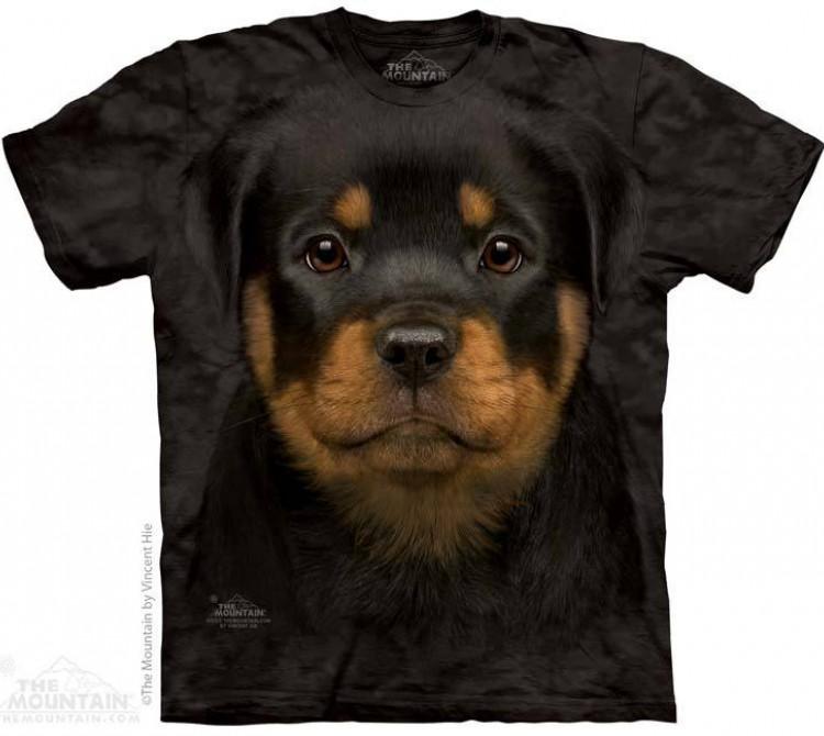 Купить The Mountain Футболка Rottweiler Puppy - Щенок Ротвейлера