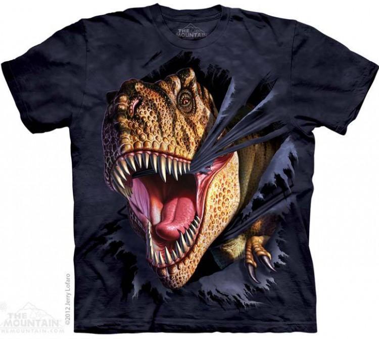 Купить The Mountain Футболка T-Rex Tearing - Рвущийся на свободу Тиранозавр Рекс