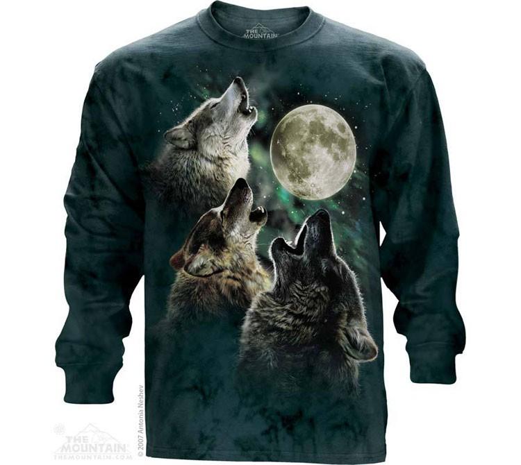 Купить The Mountain Футболка Three Wolf Moon - Три волка, воющих на луну (длинный рукав)