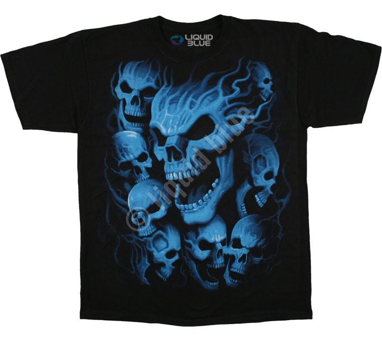 Купить Liquid Blue Футболка Vampire Skulls - Черепа Вампиров