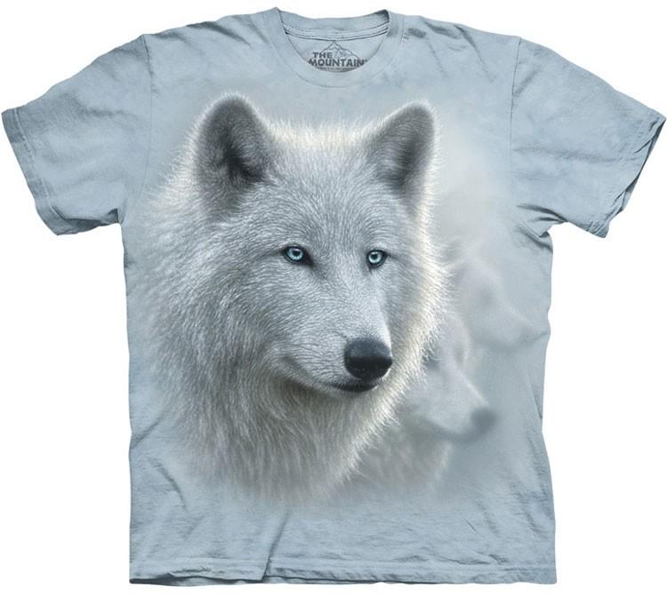 Купить The Mountain Футболка White Out - Морда белого волка