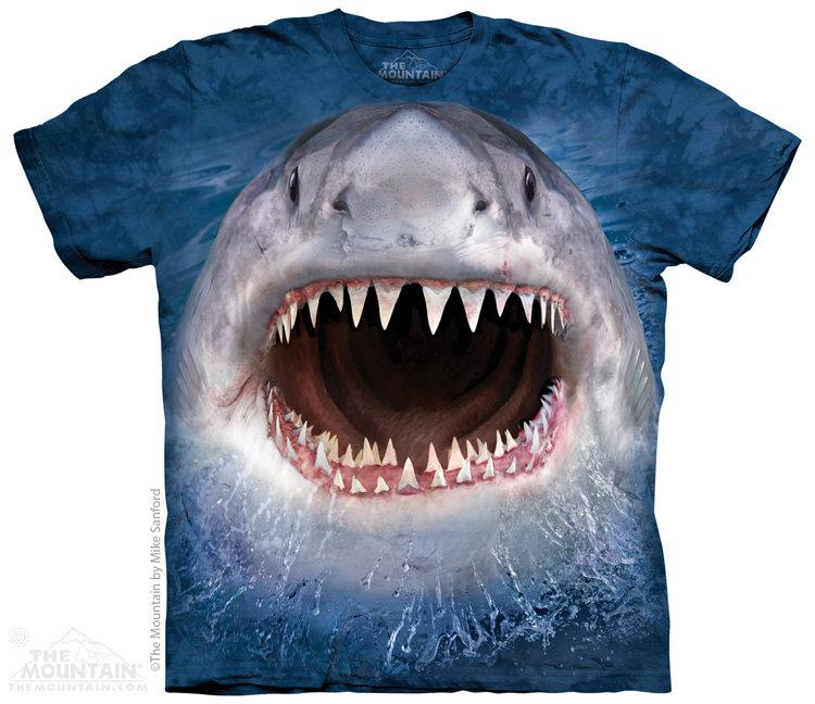 Купить The Mountain Футболка Wicked Nasty Shark - Злая мерзкая акула