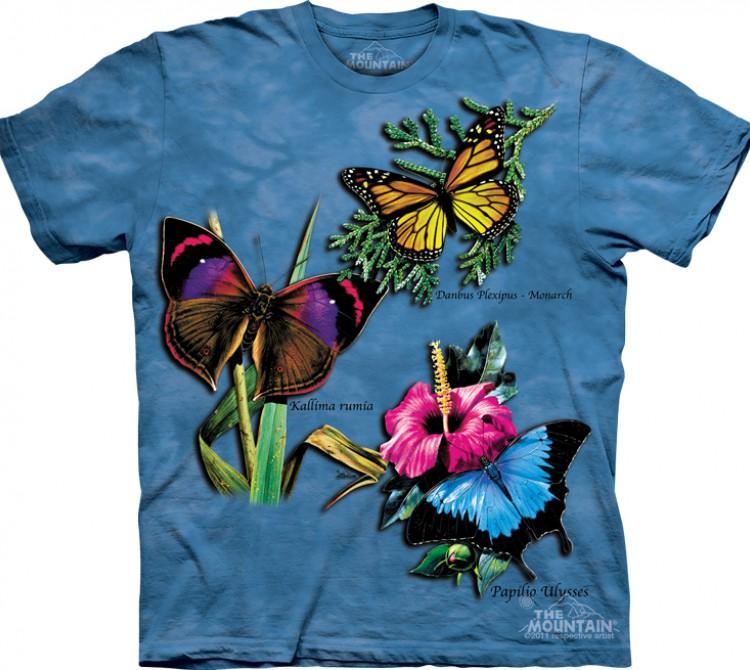 Купить The Mountain Футболка Winged Collage - Коллаж из бабочек