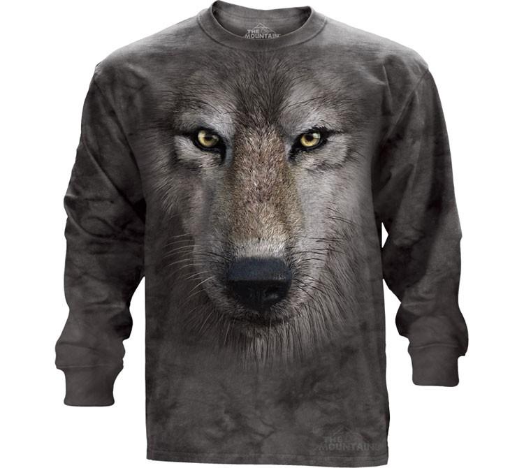 Купить The Mountain Футболка Wolf Face - Волчья морда (длинный рукав)