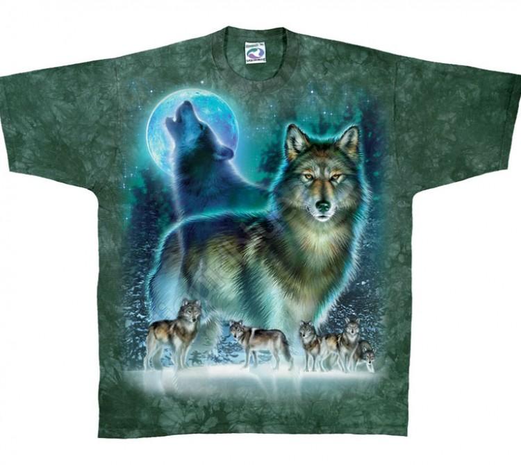 Купить Liquid Blue Футболка Wolf Moon - Волк, воющий на луну