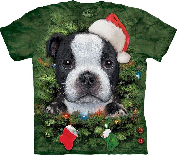 Купить The Mountain Футболка Xmas Tree Puppy - Щенок на рождественской елке