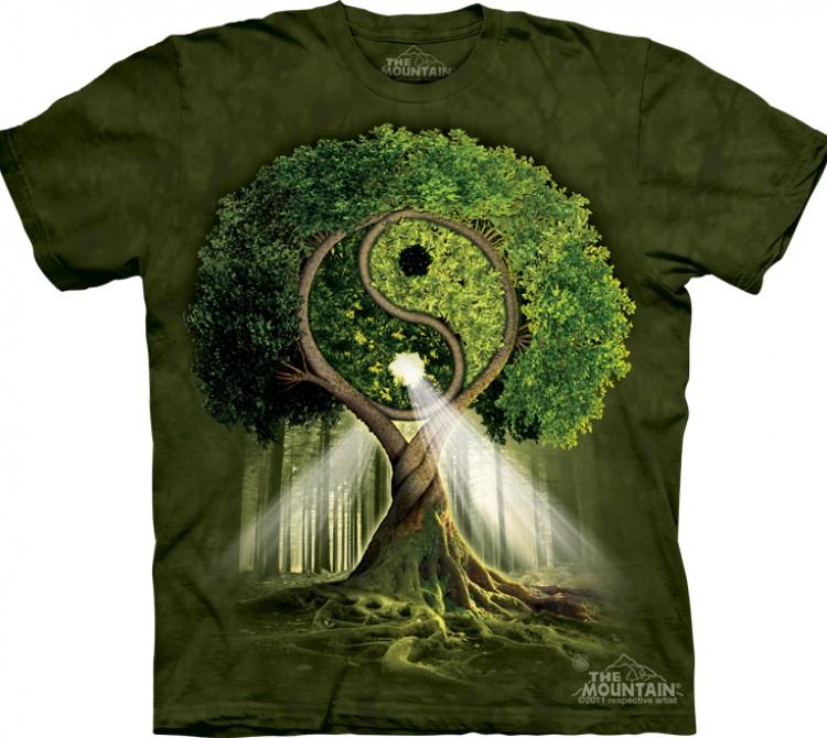 Купить The Mountain Футболка Yin Yang Tree - Инь и Ян дерево