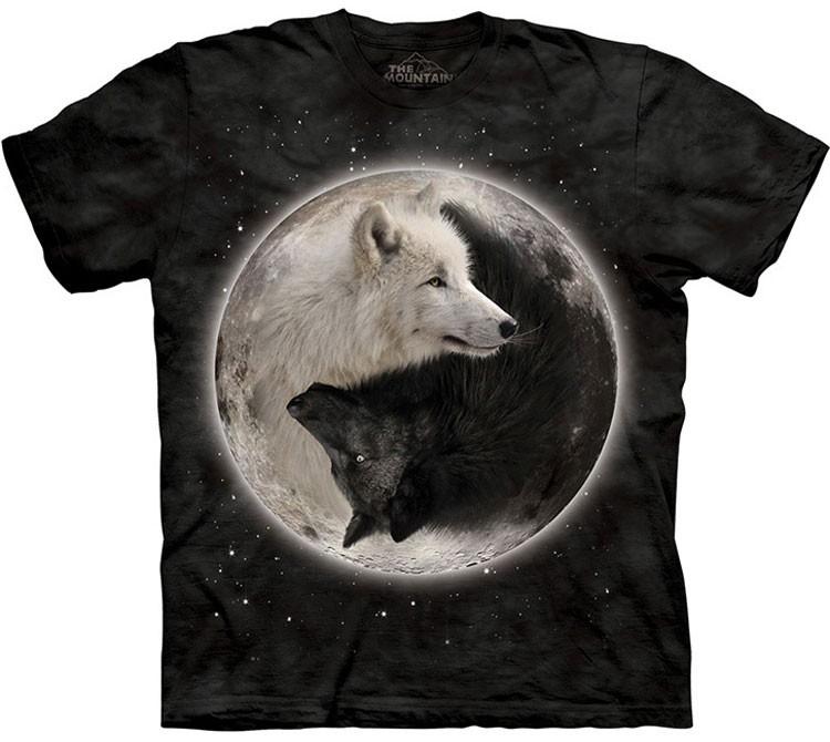 Купить The Mountain Футболка Yin Yang Wolves - Волчий Инь Ян